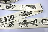 布タグ 1m/100cm リボン テープ 幅約42mm 4.2cm ハンドメイド 自作タグ  コットンタグ(ハッピークラフト)