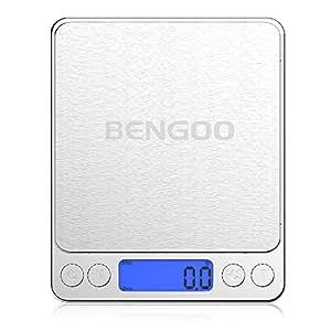 Bengoo はかり デジタルスケール 計量器 精密 超小型 軽量 3kg/0.1g 風袋機能 オートオフ機能  キッチンなどいろんな場所に適応