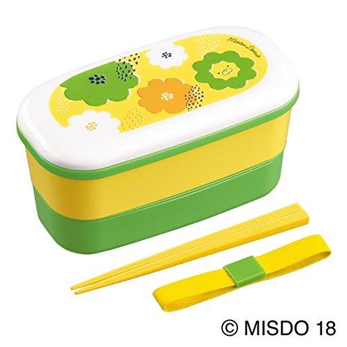 ミスタードーナッツ 「ランチボックス」 春カラーがかわいい ハシとベルト付  ポン・デ・ライオン ミスド (緑黄)桜miya専用出品