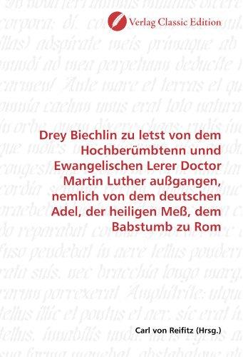 Drey Biechlin zu letst von dem...