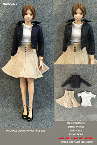 ドールズフィギュア CC272 1/6 女性フィギュア用 デニムジャケット&ドレスセット【dollsfigure】