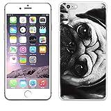 JILLS PRODUCTS-正規品 apple iPhone6 ケース iPhone6S ケース apple アイフォン6 クリア 犬 パグ ペット 白黒 モノトーン スマホケース スマホカバー スマートフォンケース スマートフォンカバー 携帯カバー ハードケース
