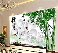 Bzbhart テレビの背景装飾画、壁用ステッカーカスタマイズすることができます大壁画3d壁画壁紙テレビ設定ウォールステッカー寝室防水竹大絵画-200cmx140cm