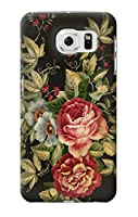 JP3013GS6EP ヴィンテージバラ Vintage Antique Roses Samsung Galaxy S6 Edge Plus ケース