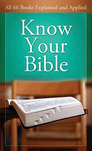 Download Know Your Bible: All 66 Books Explained (Value Books Value Books) 1602600155