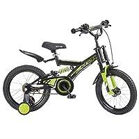 自転車 子供の自転車の男の子3-6歳の赤ちゃんのキャリッジ14インチ16インチ18インチの自転車ダブルショックアブソーバ (サイズ さいず : 16inch)