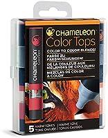 Chameleon Art Products Chameleon Color Tops, Warm Tones 5-Pen Set