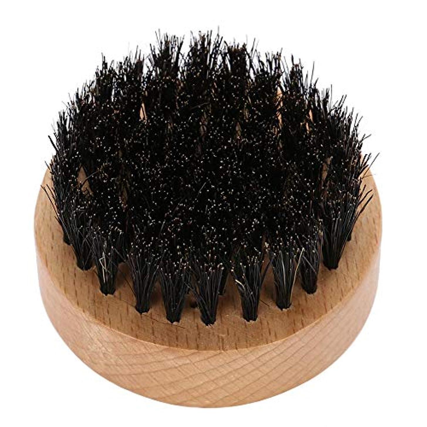 広い非アクティブ治す男性 口ひげ サークル 木製 色ブナブラシ ひげケア シェービングクリーニンググルーミングキット