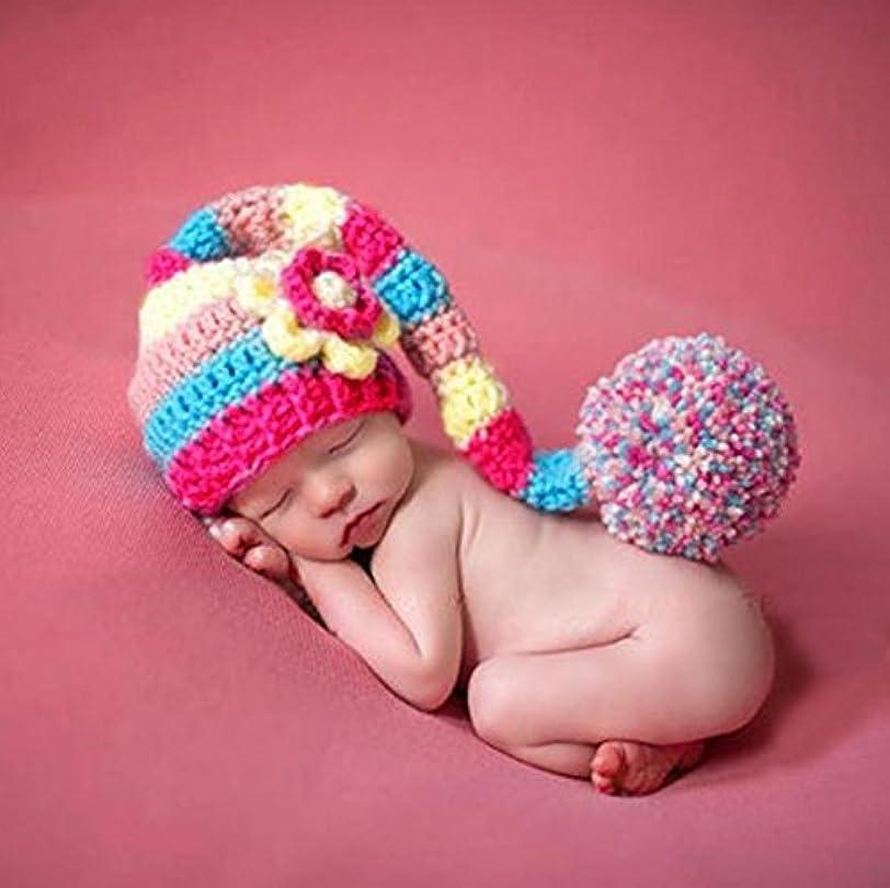 ロケーション正気収束するJ-LAVIE ベビー コスチューム 寝相アート 写真撮影用 帽子 毛糸 赤ちゃん 女の子
