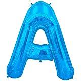 プレミアムレターバルーン ブルー 「A」 34インチ(約90cm)