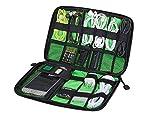 Aregaga PC周辺小物用収納ポーチ デジタル機器整理バッグ 軽量 防水 多機能 出張旅行用 アクセサリー収納 ブラック