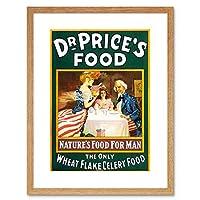 Advert Food Wheat Flake Celery Dr Price Uncle Sam USA Framed Wall Art Print 広告フード叔父アメリカ合衆国壁