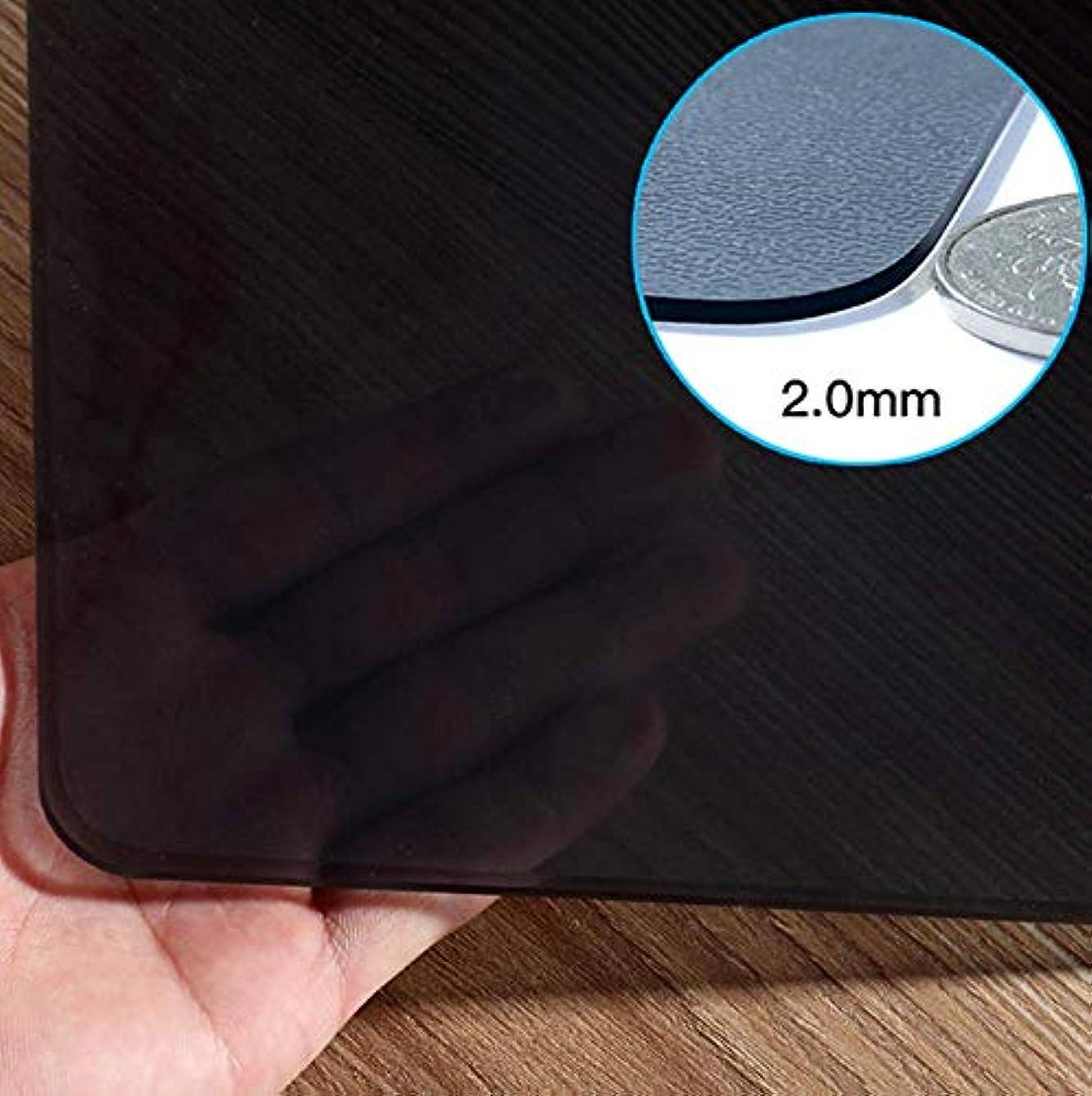 変更可能パラナ川チャンピオンL STYLE PVC テーブルクロス 黒透明 テーブルマット デスクマット厚さ1.5mm 円形 直径100cm 撥水加工 耐久 汚れつきにくい (黒透明 厚さ2mm, 円形 直径80cm)