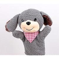 YChoice 興味深い指人形 おもちゃ 犬 手人形 ソフト キュート 動物 おもちゃ 子供 遊び 学習 おもちゃ