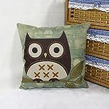 "Best Luxbon枕 - Luxbon Lovely Owl Stood On Branchコットンリネンスロー枕ケースホームDecorsソファーソファクッションカバー18x 18"" / Review"