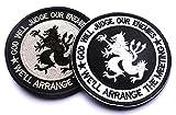 TACVASEN タクティカル ワッペン 腕章 ミリタリー パッチ ワッペン 丸 刺繍 米海軍 特殊部隊 デブグル(SEAL Team SIX)