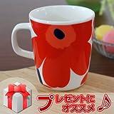marimekko UNIKKO マグカップ レッド 75 [63431]の写真
