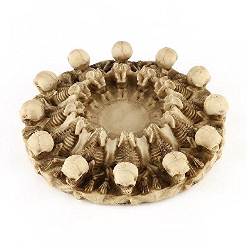 Lovoski 2個入り 個性 樹脂 人間の頭蓋骨 ヘッド 灰皿 コンテナ レプリカ ホーム バー 装飾 16.5*8.5*4cm