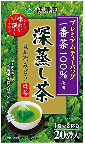 【Pick up!】 伊藤園 プレミアムティーバッグ 深蒸し茶 20袋