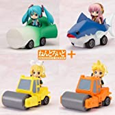 Nendoroid Plus Vocaloid Pull-back Cars Miku Lynn Len Luke all four sets