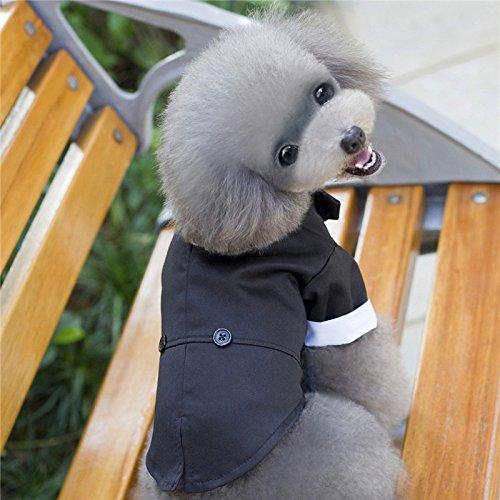 310aec11d97e0 ... AWHAO 犬服 つなぎ シャツ リボン タキシード 犬 服 犬洋服 シャツ 男の子 誕生日 結婚 ...