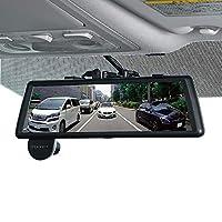PIXYDA(ピクシーダ) 前後2カメラ ドライブレコーダー搭載 スマートルームミラー PDR770SM 9.88インチタッチパネル  電子ミラー 前方200万画素 後方120万画素 夜間対応専用microSD(16GB)付属 GPS Gセンサー 駐車監視機能 ノイズ対策済