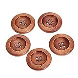 50個入り 手芸用 4穴ボタン ブロードサイド 25mm 縫製 ボタン 手芸材料