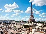 1000ピース ジグソーパズル Simple Style エッフェル塔とパリの街 コンパクトピース (38x53cm)