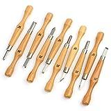 ClimBoy 高級 付鋼製 彫刻刀 刃物 10本組