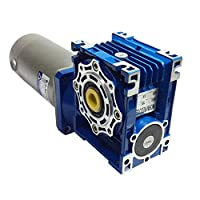 Worm Geared Reducer Large High Power Electric Motor 24V 200W 120RPM