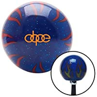 American Shifter 298502 Shift Knob (Orange Dope Blue Flame Metal Flake with M16 x 1.5 Insert) [並行輸入品]