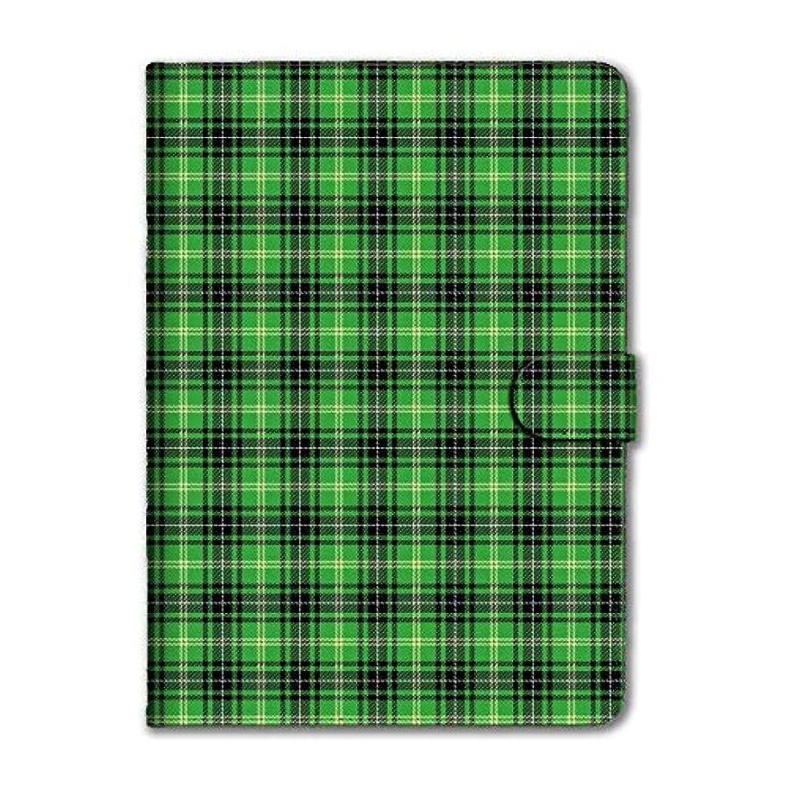 風石鹸原理Fave フェイブ チェック iPadケース チェック(緑) iPad mini4 手帳型 ダイアリー ブック型 PU レザー タータンチェック iPadmini4 f0209C003-6805