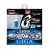 カーメイト 車用 ハロゲン ヘッドライト GIGA ブルーエボリューション H7 5400K 700lm 車検対応 BD723