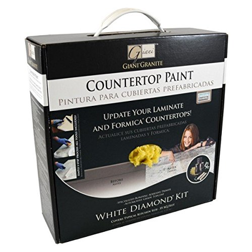 Giani Granite FG-GI WHT DICountertop Paint Kit, White Diamond