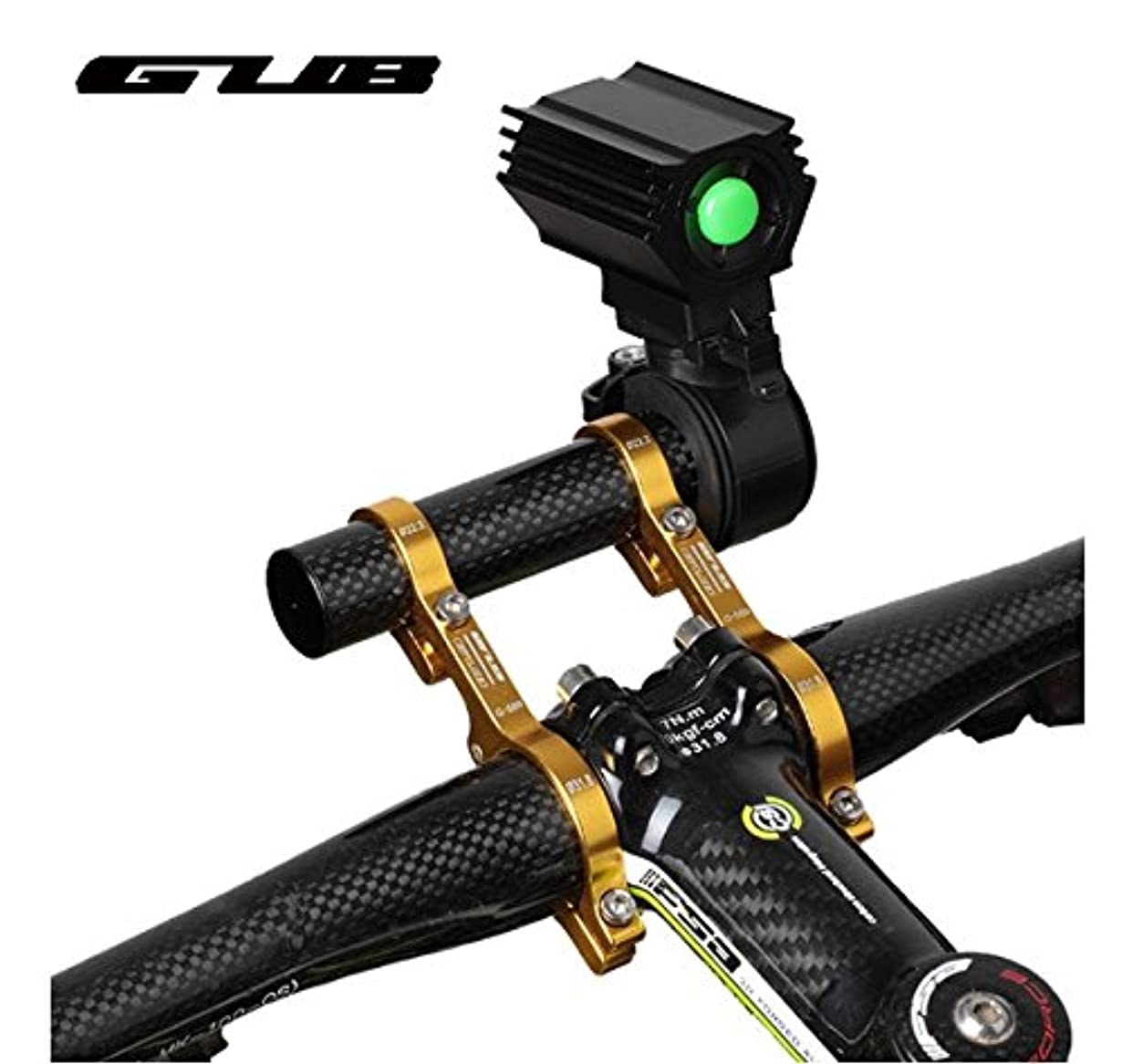 反響するクラック基礎GUB 559 full carbon Fiber bicycle Handlebar extenders road mountain bike aluminum Alloy bicycle headlight flashlight Lamp Holder