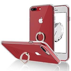 JEDirect ケース リングスタンド機能 スリムフィット iPhone 8 Plus 7 Plus対応 5.5用 HDクリア