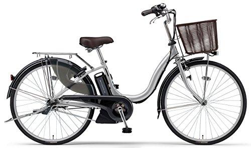 YAMAHA(ヤマハ) 電動アシスト自転車 2017年モデル PAS ナチュラM 26インチ シルバー 6.2Ahリチウムイオンバッテリー搭載 PA26NM
