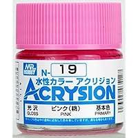 GSIクレオス 新水性カラーアクリジョン ピンク(桃) N-19 (模型用塗料)