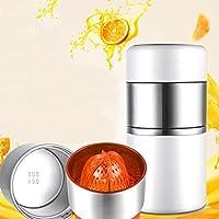 304ステンレススチールマニュアルミニジューサー、レモンスクイーザー、家庭用オレンジシトラスフルーツ、簡単かつクリーン,White