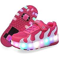 ローラーシューズ 光る靴 スニーカー 子供用 LEDライト付き 子供用 2輪タイプローラーシューズ
