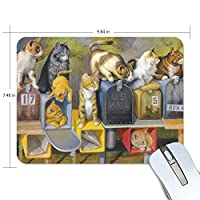 マウスパッド 猫柄 郵便箱 油絵 ゲーミングマウスパッド 滑り止め 19 X 25 厚い 耐久性に優れ おしゃれ