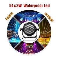 1色ディスコステージダンスパーティースポットライトクリスタルボールの影響で3 54 LED防水180Wパーライトリモートコントロール用のウェディングパーティーギフトDJクラブプール池 (Color : Single Colour Led)