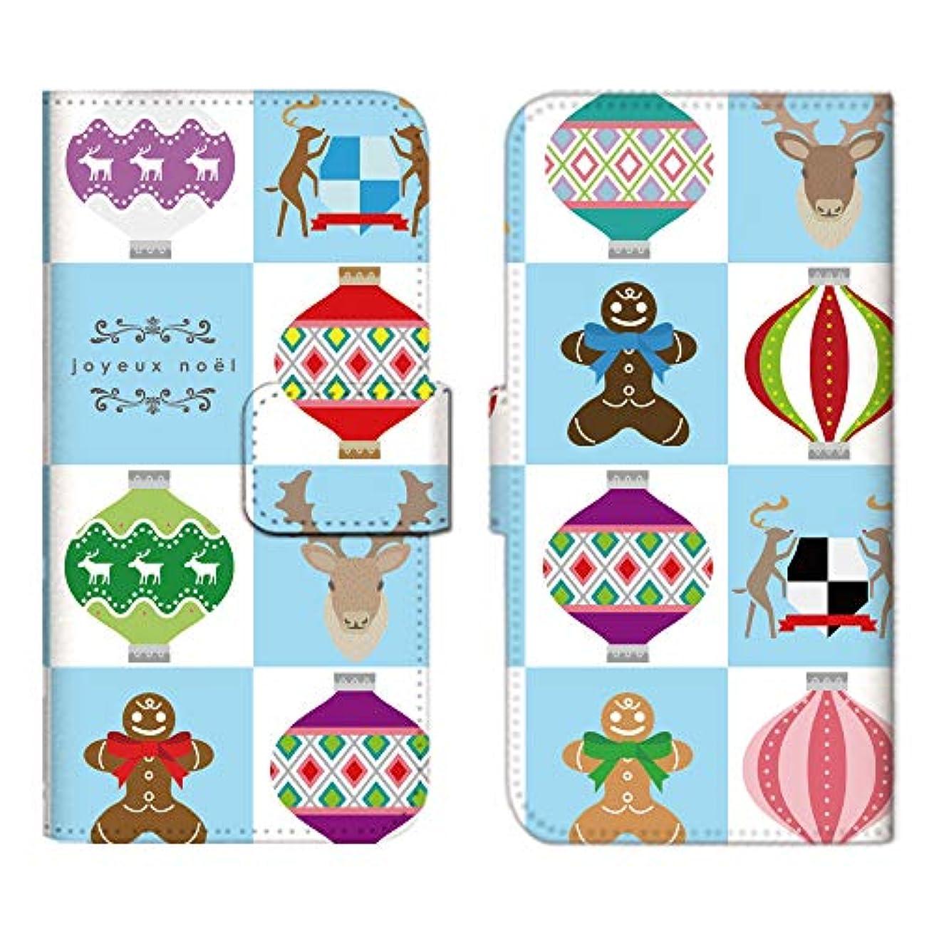 松の木みなさん上Google Pixel3 ケース 手帳型 スマホケース カードケース 収納ポケット カードポケット グーグルピクセル カバー/トナカイ 北欧 クリスマス