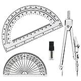 Tuloka算数セット コンパス 半円分度器15.5cmと10cm