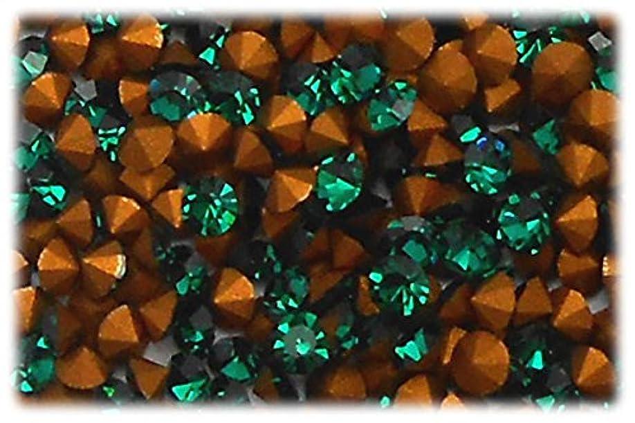 成熟したイヤホンレオナルドダラインストーン グリーン 1セット(144個入り)X3 サイズ約2.5mm gre-ss9