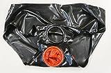 メンズラバーフロントリングホールバックシース付きパンツ 完全フルオーダー LUZオリジナル  ラディカルラバー (L, 0.25㎜ ブラック)