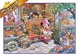 1000ピース ジグソーパズル ラストワンピースジグソーパズル ディズニー 朝のベーカリーショップ(51x73.5cm)