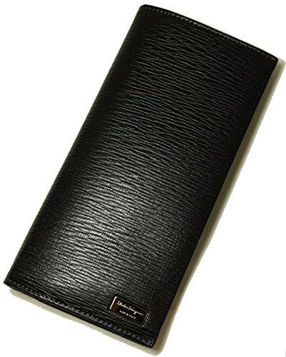 (フェラガモ) 長財布 メンズ ペブルカーフ 二つ折 (ブラック) SF-901a [並行輸入品]