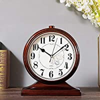 アート リビングルーム時計腕時計ホーム/デスクトップ振り子時計/ TVキャビネットクリエイティブオーナメント33 * 29センチメートル 飾る (色 : Natural)