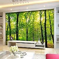Lixiaoer カスタム3D壁画壁紙ジャングル熱帯雨林風景テレビ寝室リビングルーム壁画3Dカスタムオフィス壁紙家の装飾-280X200Cm